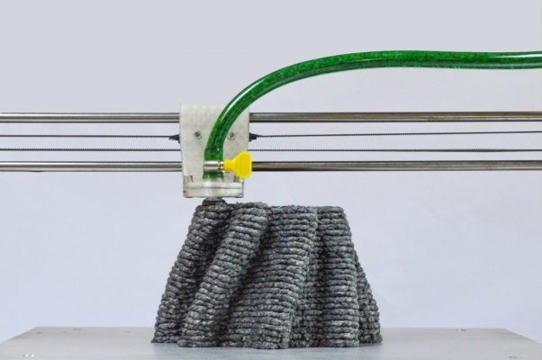 This 3D printer squirts out wet paper pulp