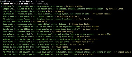 Pretend to be productive by reading TechCrunch in your terminal window