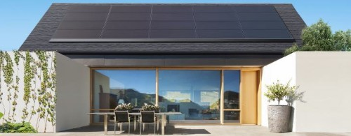 Tesla shows off a new Panasonic-made low-profile residential solar panel