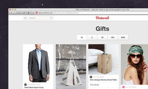 """Pinterest Debuts A """"Gifts Feed"""" Featuring Only Things You Can Buy"""