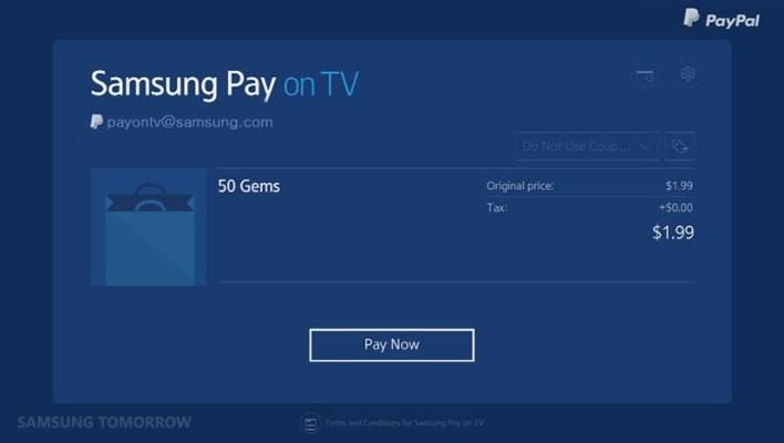 Samsung Pay Heads To Samsung's Smart TVs