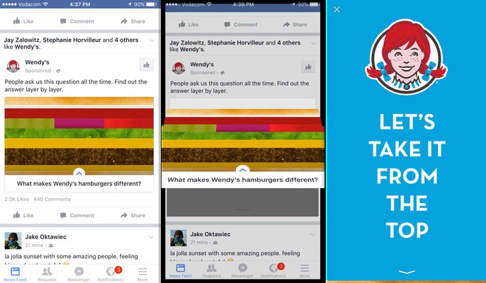 Facebook Officially Launches Canvas Ads That Load Full-Screen Rich Media Pages In-App