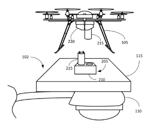 Amazon patent proposes drone perches atop streetlights and other protruding infrastructure