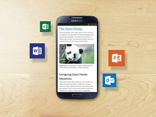 Microsoft Releases Preview Of Office For Android Phones