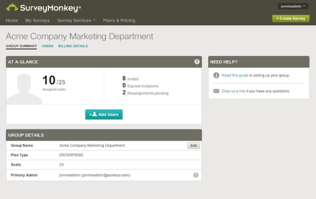 SurveyMonkey Releases Its First Enterprise-Focused Product