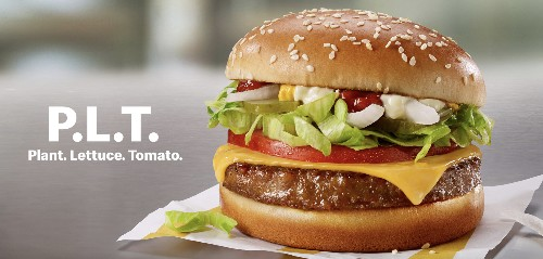 """McDonald's starts selling its Beyond Meat-based """"P.L.T."""" sandwich in Canada"""
