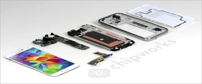 Samsung Galaxy S5 Teardown Reveals Camera, Heart Rate Monitor And Fingerprint Sensor Innards