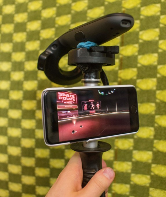 This guy combined an iPhone and an HTC Vive to make a virtual camera (sort of like the ones used for Avatar and Inside Out)