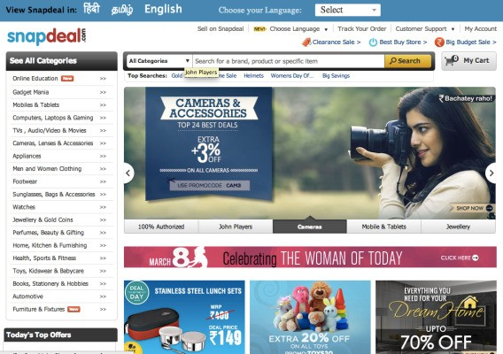 EBay Bets Big On India, Pours Another $134M Into Online Marketplace Snapdeal