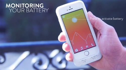 The Feeling Skin Is An iPhone Charge Case With A Configurable LED Light On Its Back
