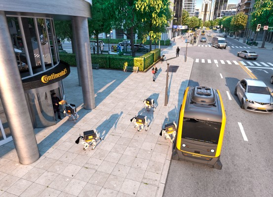 Robot delivery dogs deployed by self-driving cars are coming