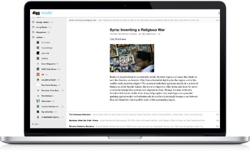 After Three Months Of Work, Digg Reader Officially Opens To The Public