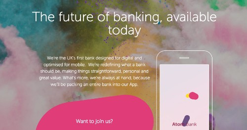 Atom is the first of the new UK challenger banks out the gate -- sort of