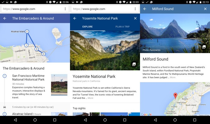 Google's new Destinations feature lets you plan trips right from its search engine on mobile