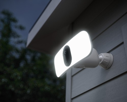 Arlo adds a big passive-aggressive floodlight to its camera so that you can scare your neighbors