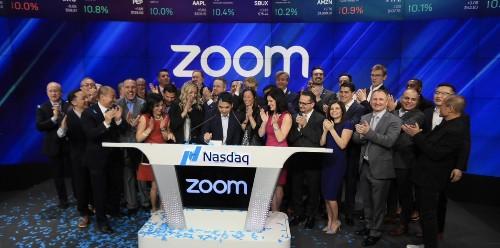 Zoom pops 81% in Nasdaq debut