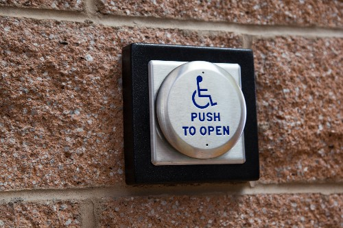 Portal automatically opens doors for wheelchair users, no button pressing required