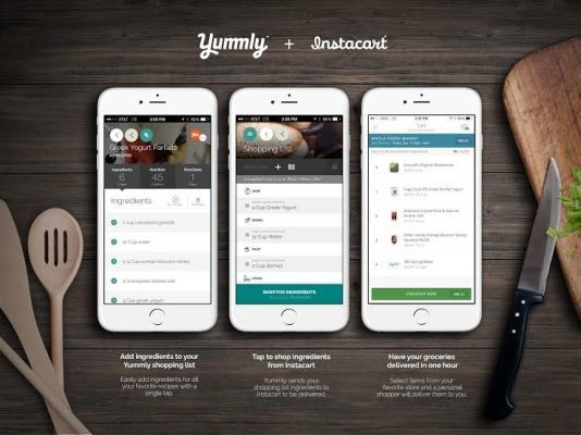Yummly Teams Up With Instacart To Deliver Recipe Ingredients In An Hour
