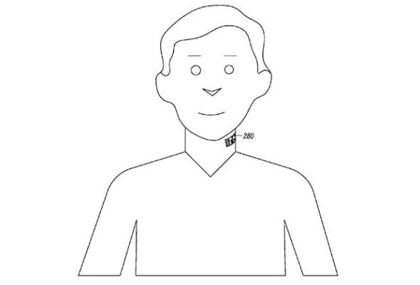 "Motorola Patent Points To Electronic Neck ""Tattoos"" That Double As Microphones"