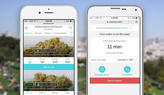 'Uber For Weed' Startup Eaze Raises $10 Million In Funding Led By DCM Ventures