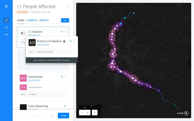 CARTO makes geographical data visualization and analysis accessible to non-specialists
