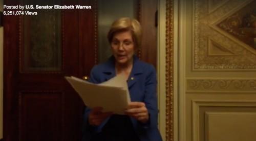Sen. Elizabeth Warren gets 6M+ Facebook Live views after being silenced by Republicans