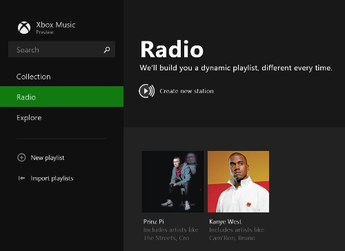 Xbox Music For Windows 8.1 Preview Adds Pandora-Like Radio Feature