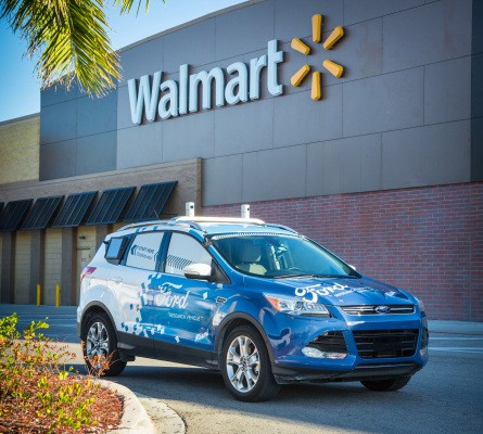 Ford partners with Walmart and Postmates to test autonomous grocery delivery
