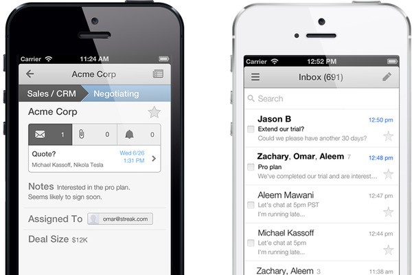 Streak's New iPhone App Is A CRM Service With Gmail Baked In