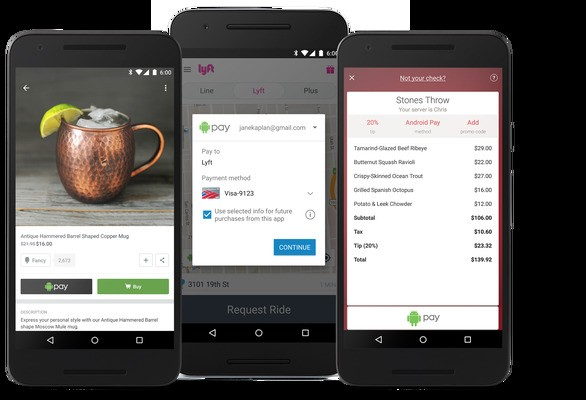 Android Pay Now Works In Mobile Apps