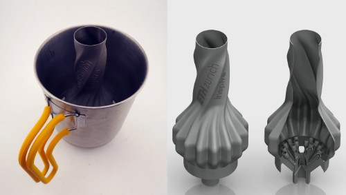 This 3D-printed camp stove is extra-efficient and wind-resistant