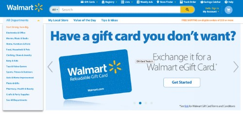 Walmart's New Site Allows Consumers To Exchange Unwanted Gift Cards For Walmart e-Cards