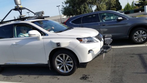 Apple's self-driving test Lexus SUV photographed on Silicon Valley roads