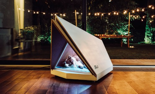 Ford comes up with a prototype noise-cancelling kennel to shelter dogs from fireworks