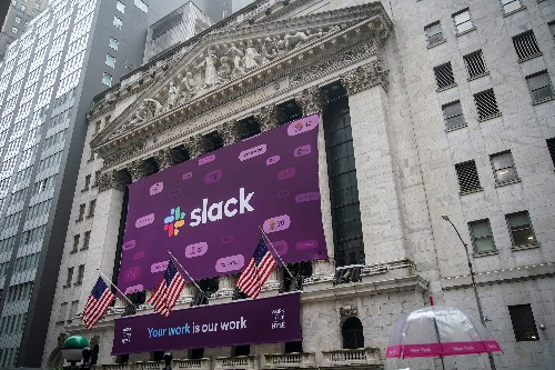 Slack's value rockets as stock closes up 48.5% in public debut