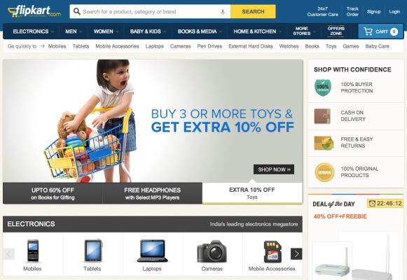 As Flipkart Hits $1B GMV Milestone, Indian E-Commerce Becomes The Next Frontier For Amazon, eBay