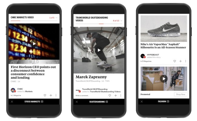 Videos are getting a bigger role on Flipboard