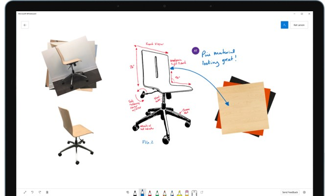Microsoft's collaborative Whiteboard app is now available for Windows 10 users