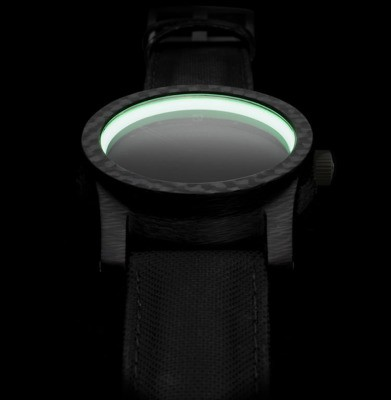 The British-made Blacklamp Carbon watch is full of glowing goodness
