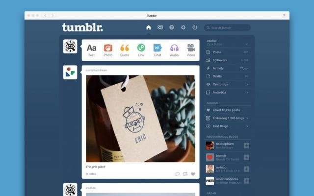 Tumblr Debuts Its First Desktop App On The Mac App Store