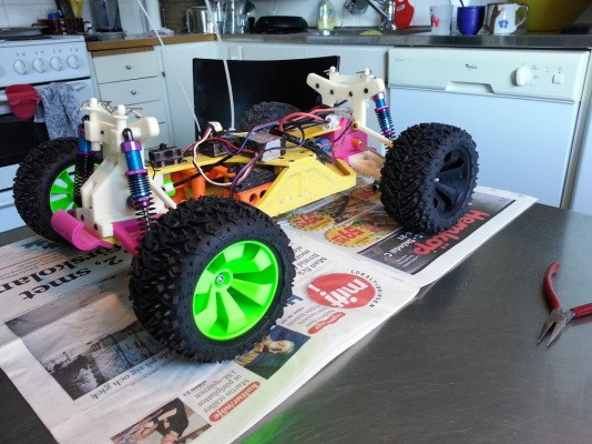 Track The Progress Of This 3D-Printed OpenRC Truggy, A Remote Control Car Enthusiast's Dream