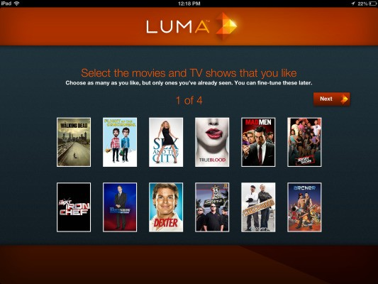 Luma For iPad Is A Personalized TV Guide For Streaming Video…With A Few New Tricks