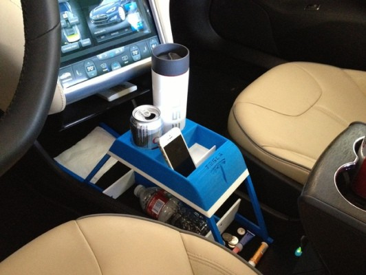 Now The Rich Can 3D Print Their Own Cup Holders For The Tesla Model S