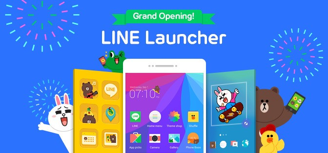 Messaging Firm Line Introduces A Launcher App For Android Devices