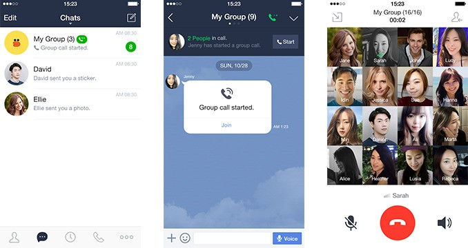 Messaging app Line now lets you host group calls with up to 200 friends
