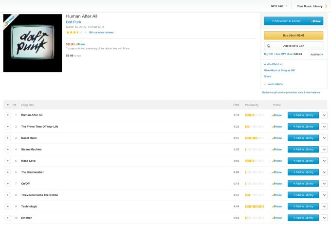 Prime Music's Clunky Interface Should Make Customers Feel At Home, Says Amazon