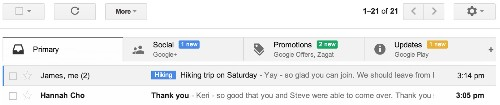 Gmail Gets A Swanky New Inbox And Automatic Sorting To Help Fight Information Overload