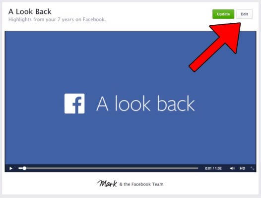 "Facebook Now Lets You Edit Your ""Look Back"" Movie"