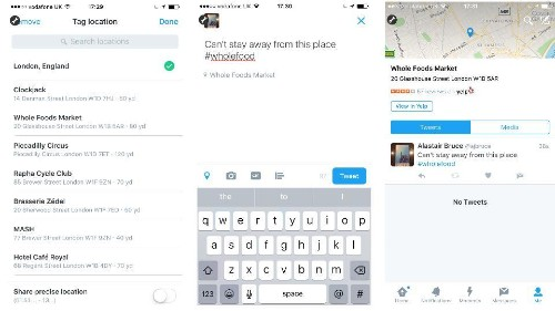 Twitter integrates with Yelp for location tags in the UK and Japan, bypassing Foursquare