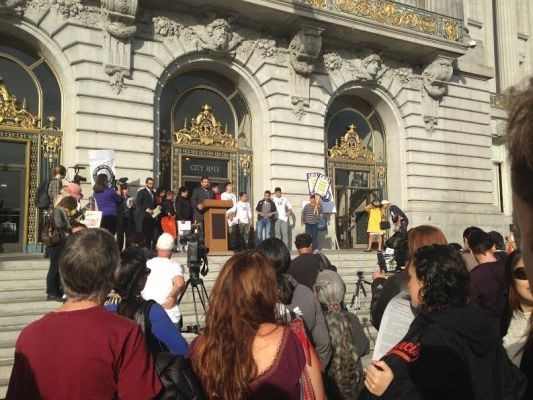 Hundreds Protest At San Francisco City Hall After Soccer Conflict With Dropbox, Airbnb Employees